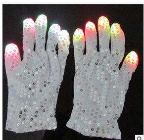Flashing Finger Lighting Mitten LED Colorful Flash Light Glow Gloves 6 Colors Light Show and Multi-Color LED Light Up Shoelaces Battery Pow