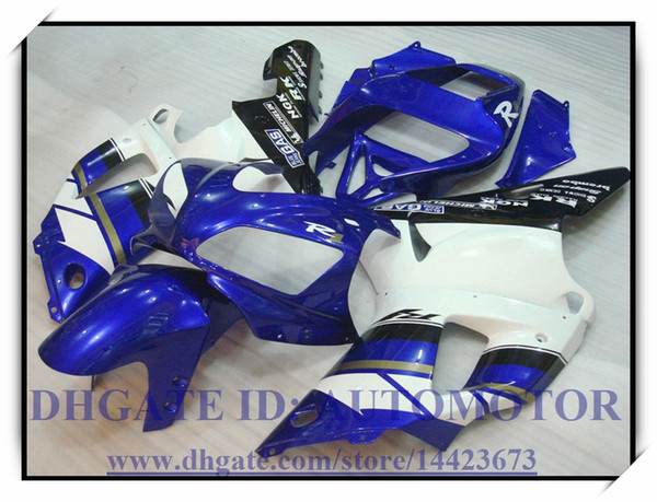 INJECTION ABS BRAND NEW FAIRING KIT 100% FIT FOR YAMAHA YZFR1 1998 1999 YZF R1 98 99 YZF1000 YZF R1 1998-1999 #UC997 BLUE WHITE