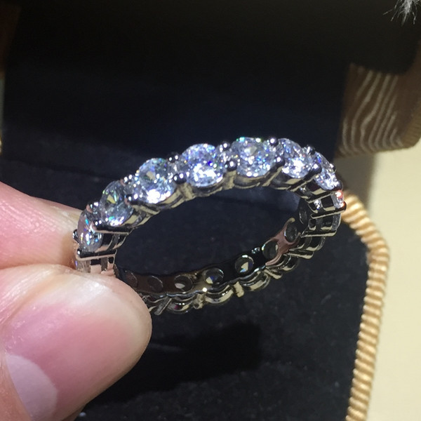 top popular 2.29 ETERNITY BAND ENGAGEMENT WEDDING gemstone Rings DIAMOND simulated PLATINUM ep Size 5,6,7,8,9,10 2020