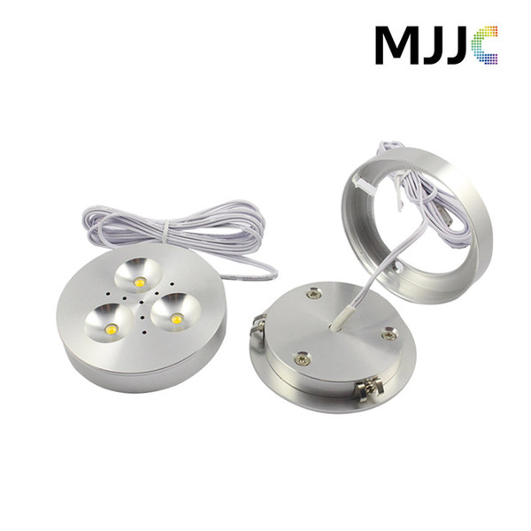 best selling 12V DC 3W Dimmable LED Downlights Under Cabinet Light Puck Lights Ultra Bright Warm White,Natural White,Cool White for Kitchen Lighting