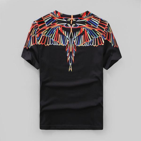 Abbigliamento di marca 2018 nuova estate Marcelo Burlon contea di milion colore piuma stampa a colori t-shirt maglietta in cotone tee casual Swag