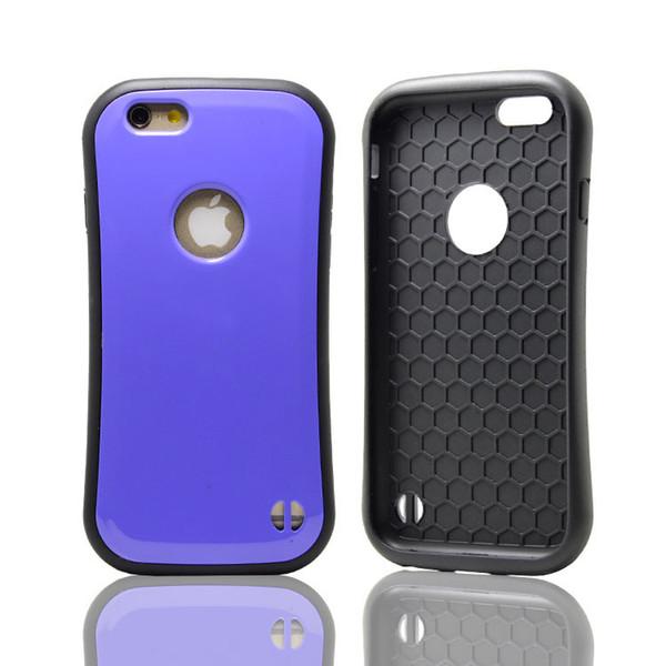 100pcs Korea TPU & PC Case Candy Color Small Pretty Waist Antiskip Slim Mobile Phone Case for iphone 6plus zte zmax pro z981 Phone Cover
