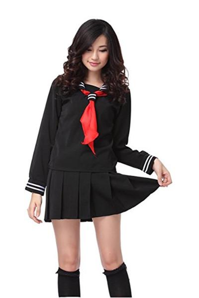 Kukucos Animation Hell Girl Ghost Student Clothes Sailor Uniform Jigoku Shoujo Cosplay Costume