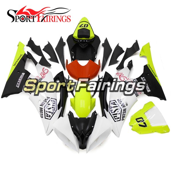 Full Fairings For Yamaha YZF600 R6 08 - 15 Year 2008 2009 2010 2011 2015 Sportbike ABS Motorcycle Fairing Kit Green White Bodywork Cowlings