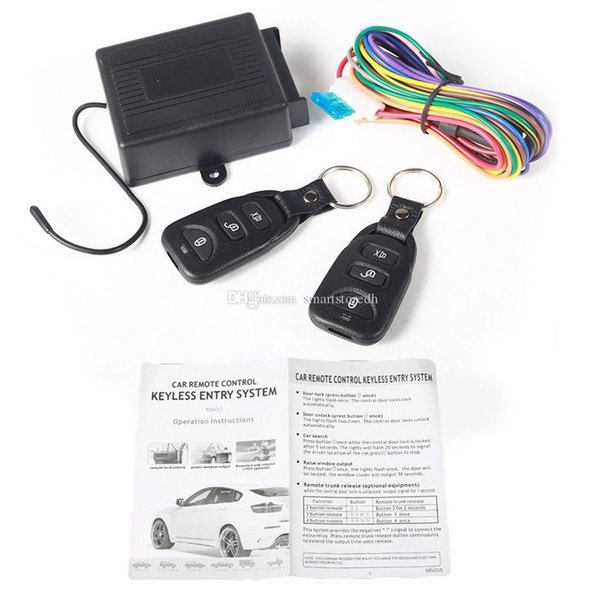 Universal Car Central Door Locking Keyless Entry System + 2 Remote Control M00031 SPDH