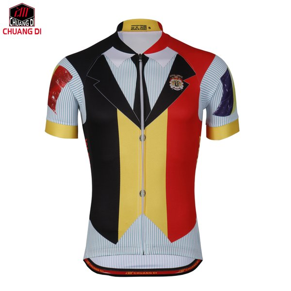 European Cup Belgium Cyclingbox Pro Cycling Jersey Sports Short Sleeve Bike Clothes High Quality Bicycle Sportswear clothing