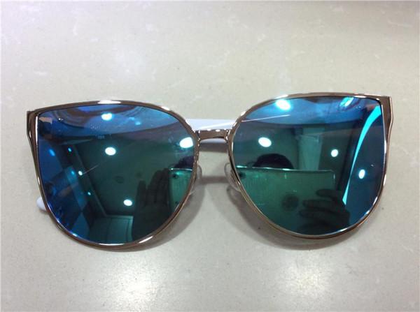 Hot!new designer sunglass korean designer Irresistor 008 fashion model cat eye frame mirror lens cool shiny style polarized lens