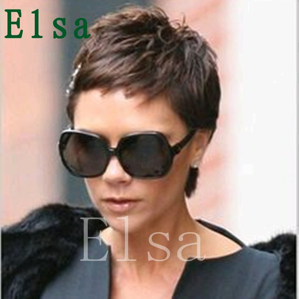 Cut Human Hair wigs pixie half hairstyles full lace/lace front wigs short hair Brazilian virgin human hair none lace wigs for black women