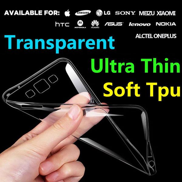 0.8mm Ultra thin Perfect Clear Crystal Transparent TPU Soft Cover Case For Samsung Glaxy J1 ACE J110H J2 J200F J3 J3109 J7