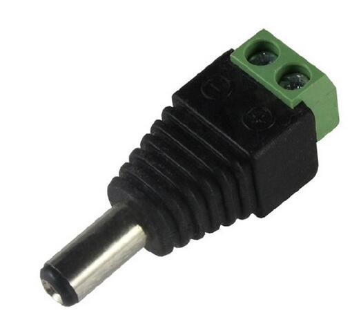 best selling CCTV Cameras 2.1mm Male DC Power Plug Adapter DC Power Male Plug Jack Adapter Connector for CCTV