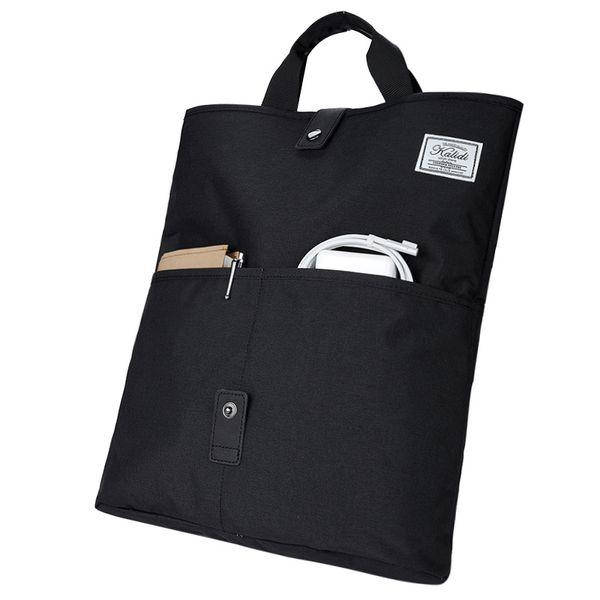 Wholesale- KALIDI Postal Foldover Bag Unisex Postman Purse Shoulder Bags Women Crossbody Messenger Laptop Sleeve for 13 15 Inch Macbook Pro