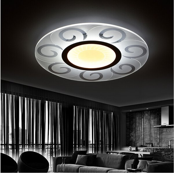 Super-thin Modern Led Ceiling Lights Round Sun Ceiling Chandeliers for Living Room Bedroom Acrylic Lighting Fixture