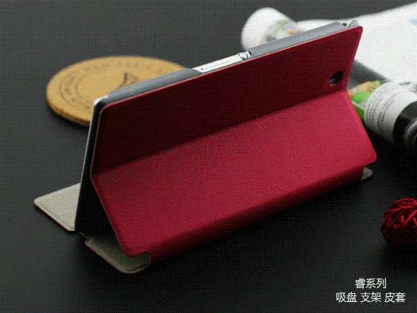 4 Color High Quality Flip Leather Case For Sony Xperia Z Ultra XL39H Original Genuine Brand Phone Case Stents Cover