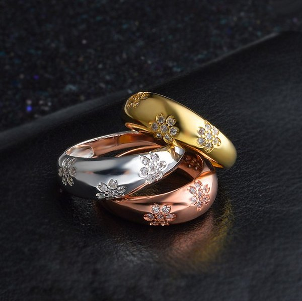 Women Flower Ring High End Refinement Fashion Jewelry With Wedding Party Birthday Timeless Rings Elegant Fashion Jewelry Women