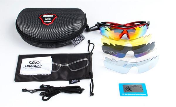 Polarized Cycling Glasses Mountain Bike Goggles Sports 4 LENS UV400 High Quality