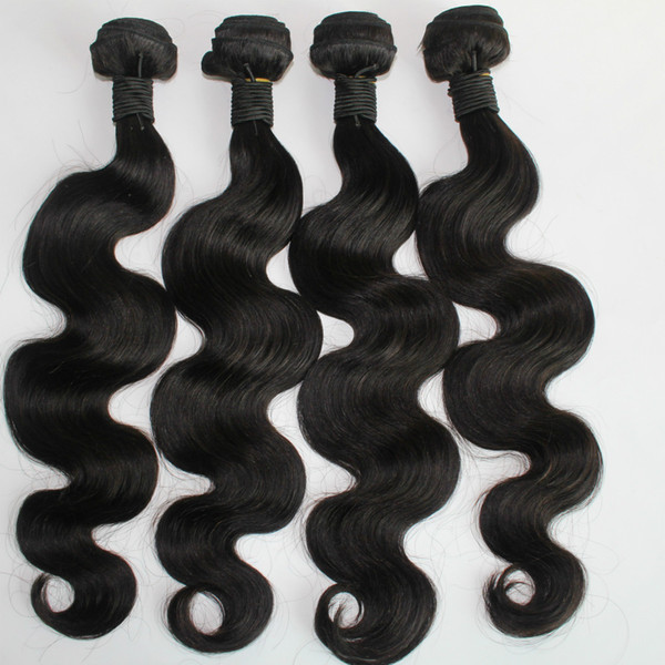 top popular Body Wave 8-30inch 3 or 4pcs lot Brazilian Human Hair Weave Natural Color Malaysian Indian Peruvian Human Hair Bundles Extension 2021
