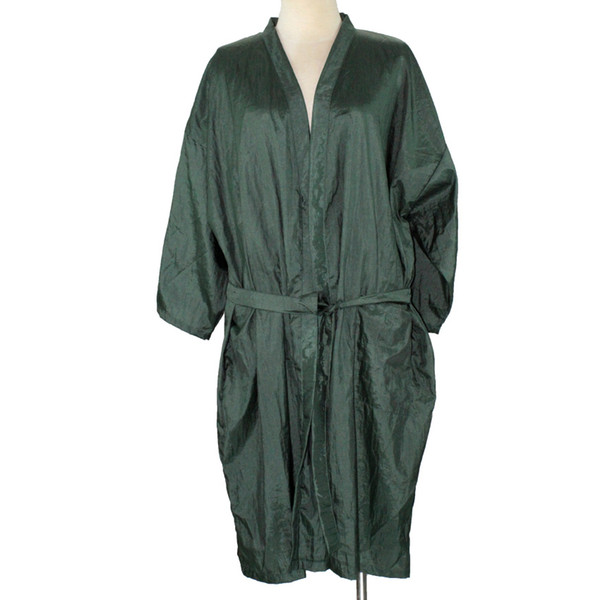 2 Colors Beauty Salon Hairdressing Kimono Free Size Bathrobe Leisure Spa Kimono Unisex Soft Cloth Anti-static Hair Gown