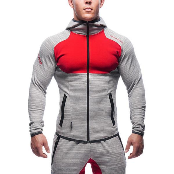 New Muscle Brothers Mens Sport Jacket Fitness Running Fashion Brand Sweatshirt Men Gym Clothing Running sports Hoody Jackets Sportswear