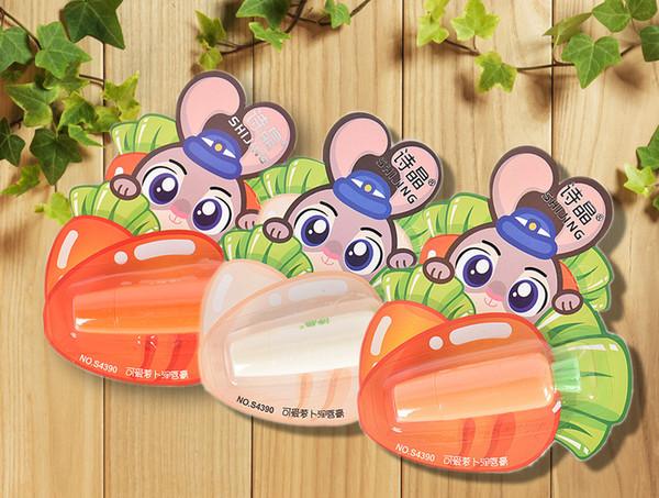 Havuç Sıcak 3.5g Sevimli Meyve Uzun ömürlü Nemlendirici Anti-çatlamış Güzellik Makyaj M02703 için Büyülü Mini Dudak Balsamı
