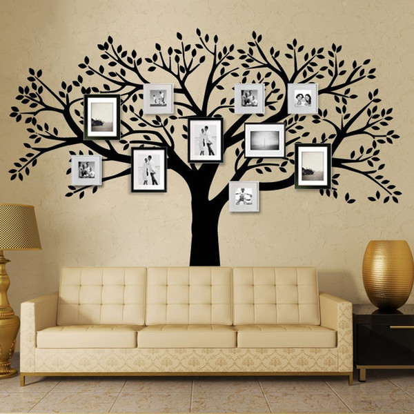 Free Shipping Family Tree Wall Decals Oversized Photo Frame Tree Wall Stickers for Kids Room for Living Room DIY Home Decor
