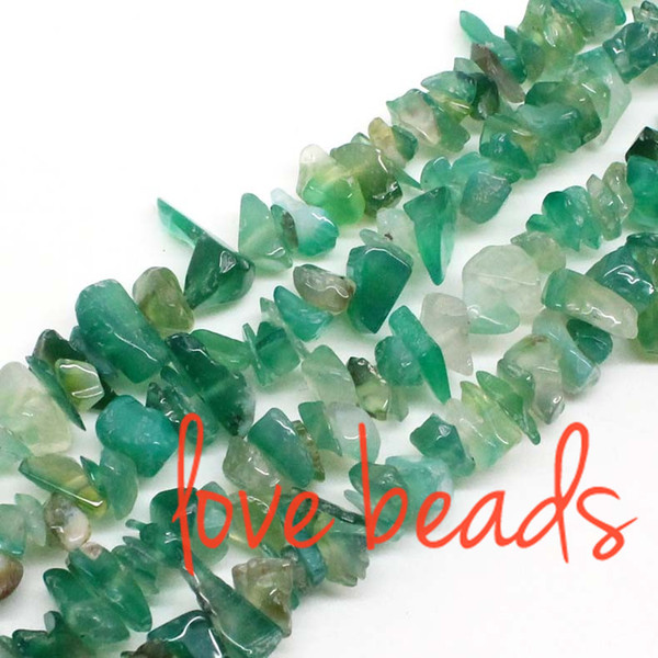 5mm-8mm Freeform Natural Green Agate Irregular Gravel Stone Loose Beads For wholesale Diy Bracelet Strand 80CM(F00337) wholesale