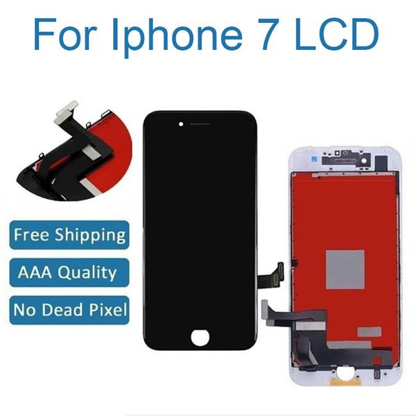 Für iphone 7 screen ersatz für lcd touchscreen digitizer rahmenmontage vollen satz mit 3d touch für iphone 7 weiß