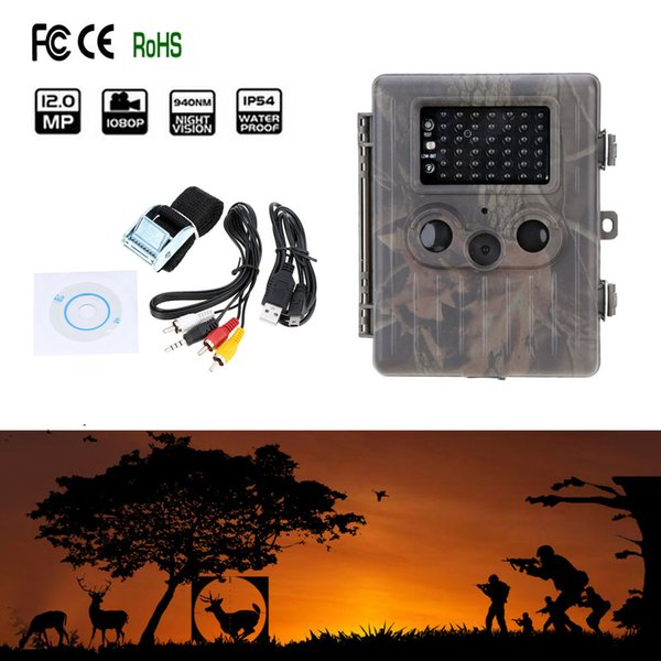 1PCS EMS/DHL Free HT-002AA Rain-proof Wildlife Hunting Camera HD Digital Infrared Scouting Trail Camera IR LED Video Recorder