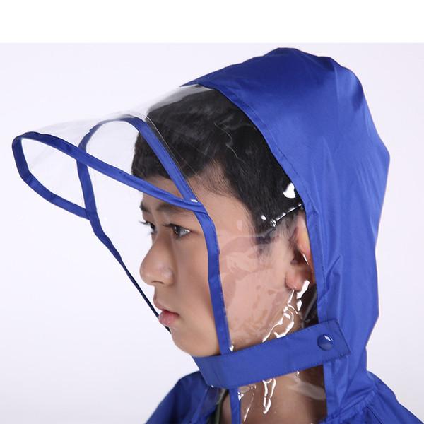 cappello trasparente all'orlo