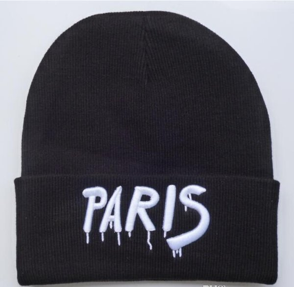 New Arrival PARIS letters Beanies Football Beanie Caps Sports Team Hats Fashion knitted Beanies Skulls Beanie Knit Beanies Winter Hats HFMY
