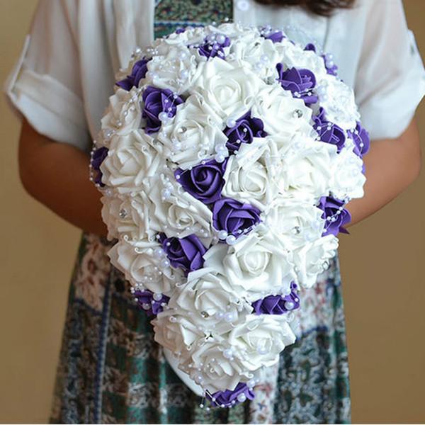 Bouquet Da Sposa A Cascata.Acquista Nuovo Bouquet Da Sposa Bouquet Cascata Bouquet Di Rose In