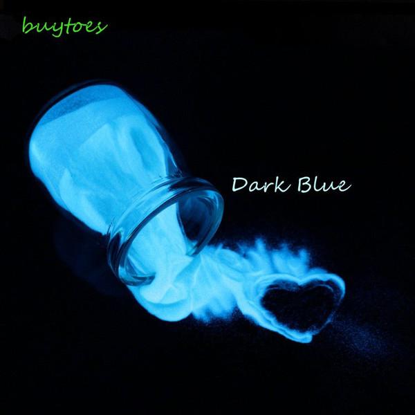colore bianco Polvere di fosforo fosforoso glitter luminoso di colore blu scuro, glitter per unghie scintillante in smalto per unghie