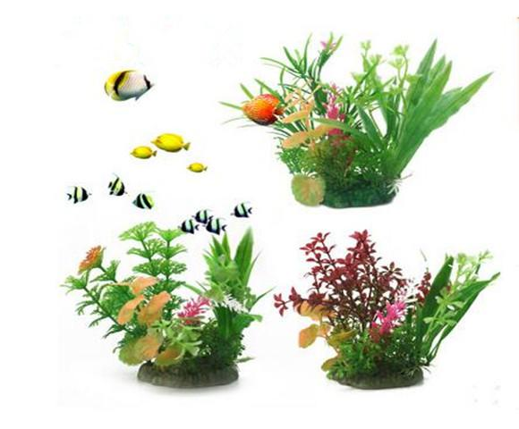 Aquarium landscaping really water aquarium decoration plants foreground plastic flowers 6 grass collocation, small and beautiful.