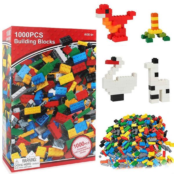 Blocos de construção de brinquedos 1000 pcs diy granel tijolos 10 cores misto lifter para crianças tijolos de construção tijolos blocos de construção presentes
