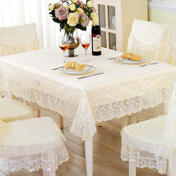 Genial Beautiful Embroidery Floral Lace Table Cloth Wedding Party Decoration Lace  Chair Cover Moq 1 Piece Support