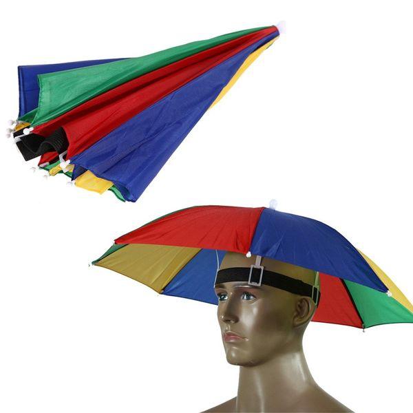 Nuevo Sombrero de sombrilla plegable al aire libre Sombrero de golf Pesca para acampar Sombrero de cabeza Sombrero de cabeza Deportes al aire libre Equipo de lluvia