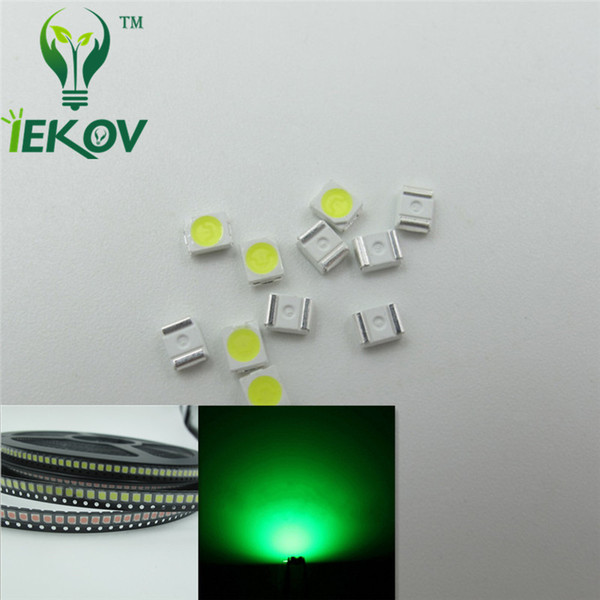5000pcs PLCC-2 1210 3528 Greeen LED SMD Ultra Bright Light Emitting diodes High quality SMD/SMT Chip lamp beads Hot SALE