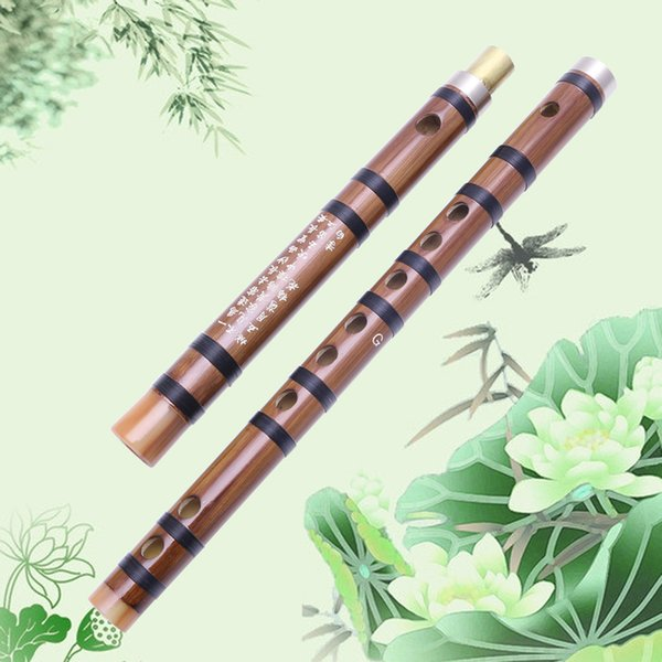 Wholesale- Musical Accessories Chinese Musical Instrument Bamboo Pluggable Flute/Dizi In G Traditional Handmade