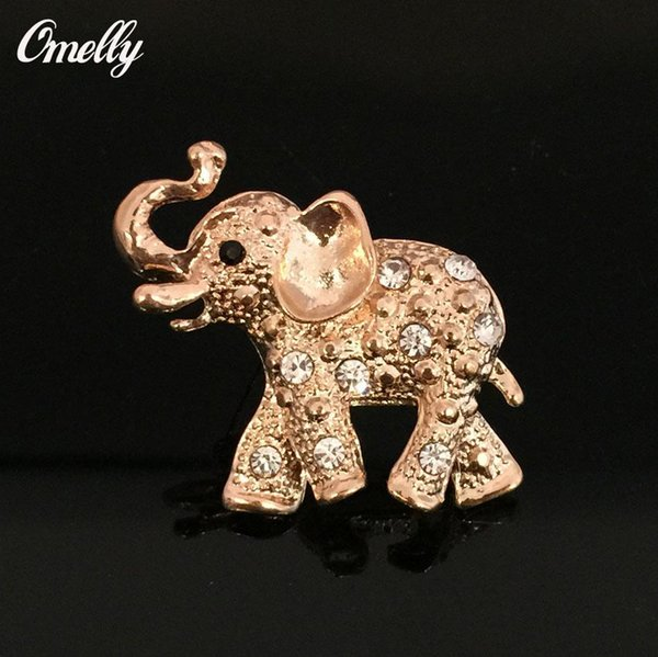 Small Smart Elephant Rhinestone Crystal Brooches Pins Animal Diamante Wedding Bouquet Brooches Pin Wholesale Christmas Brooches