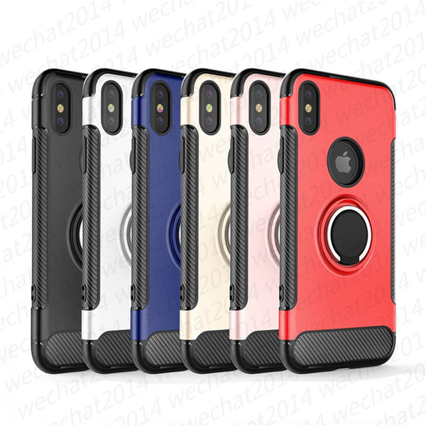 top popular Ring Holder Magnetic Car Holder Shockproof Armor Case Cover for iPhone 11 Pro Max X Xr XS Max 8 7 Plus Samsung Note 8 S8 S9 Plus S10 Plus 2020