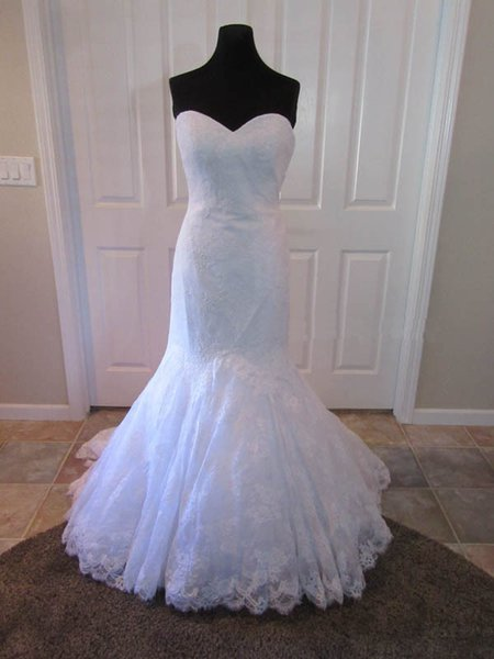 Gorgeous Fit and Flare Lace Bridal Gown Sweetheart COR-1090 Layers Appliques Mermaid Wedding Dress 2017 Customer Order Cheap