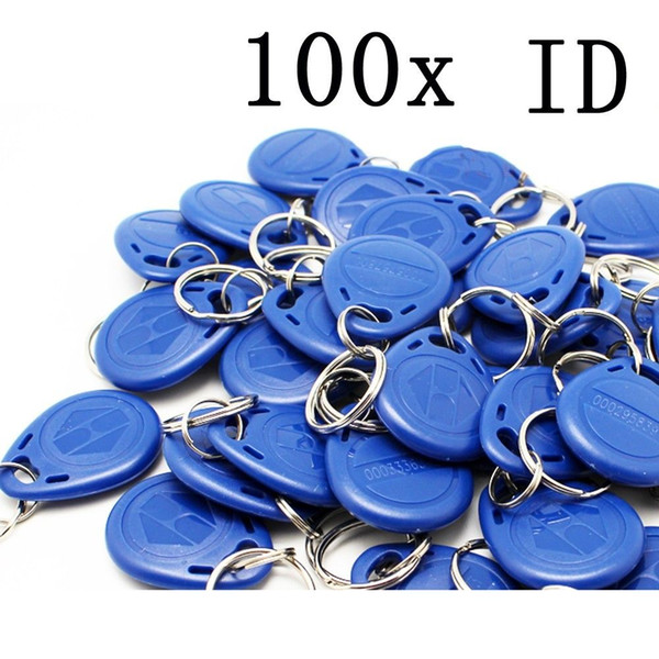 top popular free shipping 100pcs blue color blue RFID key fobs 125KHz free shipping proximity ABS key tags for access control TK4100 EM 4100 chip 2021