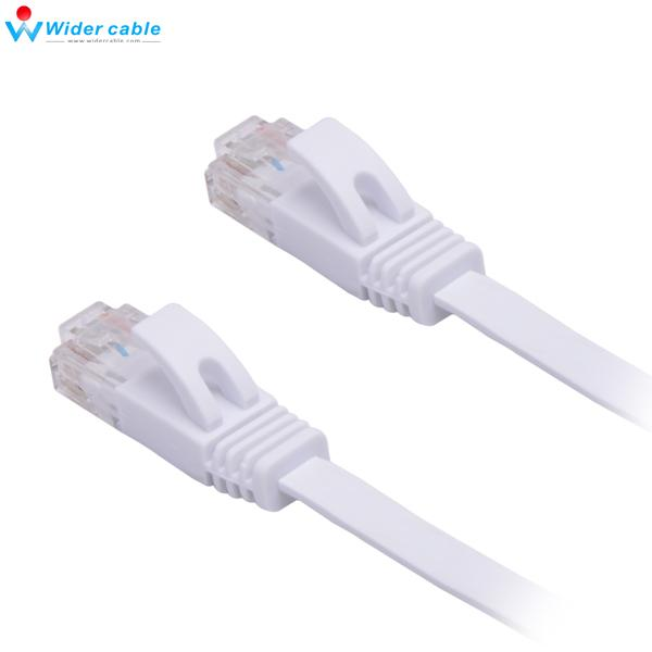 Free Shipping 3M White 32AWG RJ45 Flat Network Patch Kable UTP CAT 6 Ethernet Cable For Router