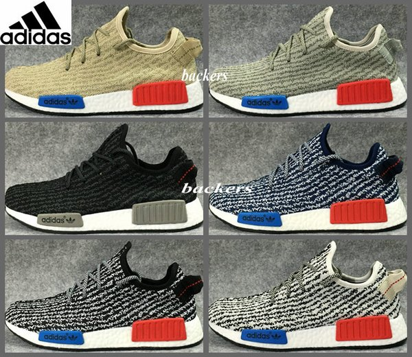 Original Adidas NMD Runner Yeezy 350 Boost Running Shoes For Women Men Yeezys Sneakers Originals Cheap Gold Black Size 36 45 Trainers Shoes Woman