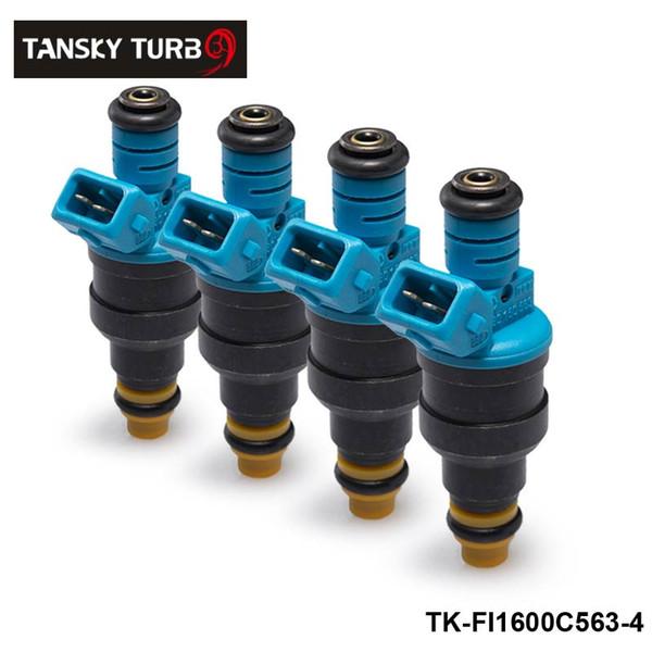 TANSKY-4PCS / LOT Nuevo Inyectores de combustible de alto rendimiento y baja impedancia 1600cc 160LB EV1 OEM: 0280150563 TK-FI1600C563-4