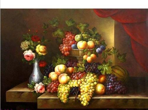 Genuine High Quality Handpainted Wall Decor Art oil Painting On Thick Canvas Museum Quality,Classic Fruit Still Life