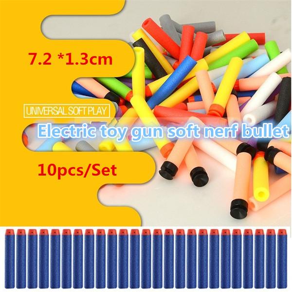 Nouveau 800pcs Jouets de plein air bullet Série Recharge Clip Fléchettes Jouet pistolet électrique soft toys balle 10 couleur 4141-1