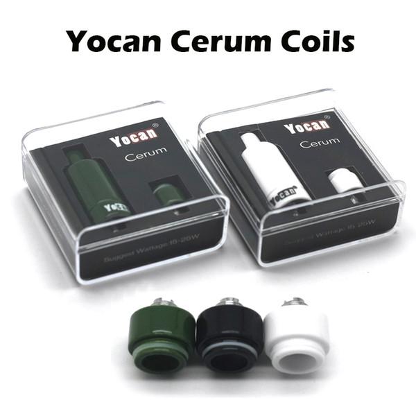 Genuino Yocan Cerum bobinas de cerámica Donut bobinas de cuarzo bobinas duales QDC para Yocan Cerum cera atomizador E cigarrillos bobinas de repuesto