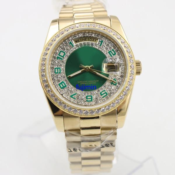 montre de luxe daydate classique hommes montre mécanique automatique 36mm qualité en acier inoxydable montre marque fujimin montres 31