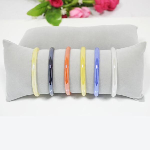 Fashion Free Shipping Big Sales Retail 3pcs/lot Bracelets Bangle Watch Pillow Holder for Jewelry Display Large Grey Velvet Case