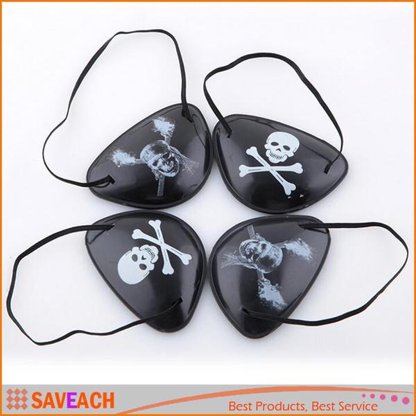 Novelty Pirate Eye Patch Skull Crossbone Eyepatch Eye Mask for Masquerade Halloween Cyclops (Black - Mix Style)